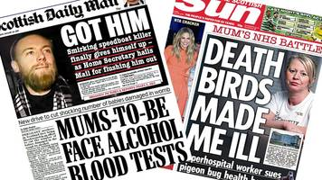 Scotland's papers: Booze tests and hospital infection row