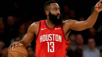 nba: james harden scores 61 points as houston rockets beat new york knicks