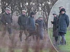 queen heads out on a shoot with friends on the sandringham estate