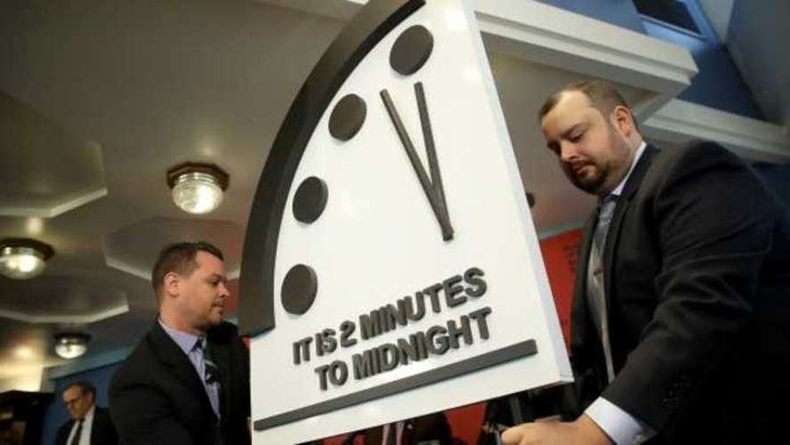 The Doomsday Clock Freezes – at Two Minutes to Midnight