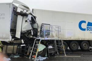 m11 closure: horrifying pictures show extent of damage caused in lorry crash