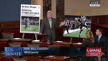 watch: louisiana senator bill cassidy rails against nfc championship blown call on senate floor