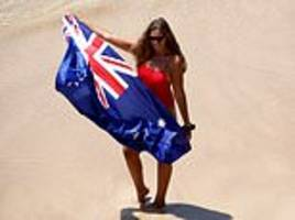 sydneysiders escape the heat and flock to iconic bondi beach to celebrate australia day