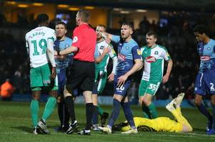 derek adams transcript as he blasts wycombe for their time-wasting tactics in 1-0 defeat of argyle
