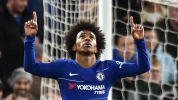 chelsea cruise into fifth round as willian's double sinks sheffield wednesday