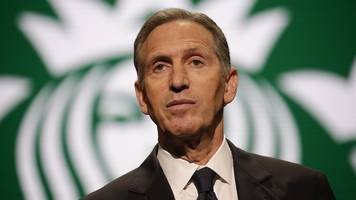 howard schultz: ex-starbucks ceo considers presidential run