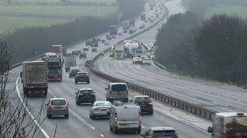 m11 crash: lorry driver reported over three-vehicle crash