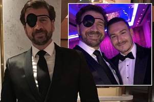 brave diy sos star nick knowles dons 'sexy' new pirate look to help childline raise £193,000 hours after eye op