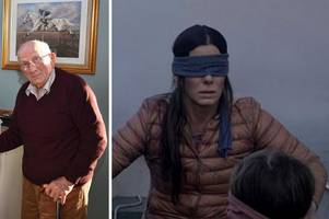 grandad raises hundreds of pounds with heartwarming bird box challenge you won't have seen on the internet