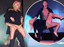 pamela anderson, 51, delivers a very racy dance routine with maxime dereymez in germany