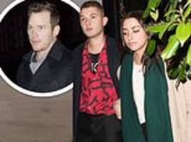 rafferty law and girlfriend clementine linieres dine out at scott's...along with chris pratt
