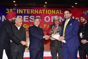 'mohammed mansoor', the latest hind ratan from bahrain shines at 38th international congress of nri's