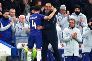 maurizio sarri provides cesc fabregas replacement update as ethan ampadu fails first test