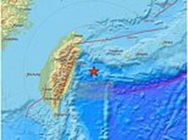 earthquake hits taiwan, with 5.3 magnitude tremor shaking buildings in the capital