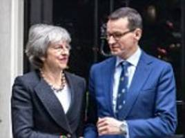 polish pm piles pressure on leaders to avoid no-deal brexit