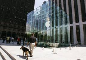 apple's iconic glass cube in new york will re-open this year (aapl)