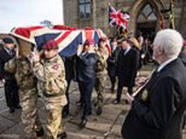 the final salute: hundreds of people turn out for funeral of wwii veteran, 95