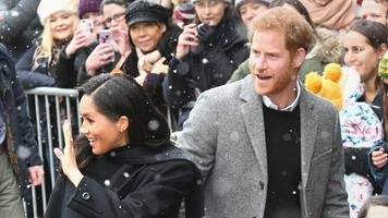 dozens brave bristol snow to see meghan and harry