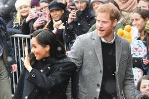 the first adorable pictures from prince harry and meghan markle's royal visit