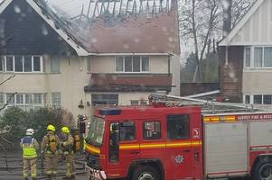 watch surrey fire and rescue battle large house fire in staines