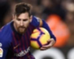 messi matches ronaldo penalty milestone as barca star sets six-year best