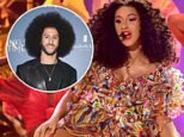 cardi b reveals 'mixed feelings' about declining super bowl performance to support colin kaepernick