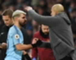 man city boss guardiola hails hat-trick hero aguero after arsenal win