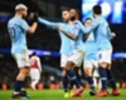 manchester city 3 arsenal 1: aguero stars as champions bounce back