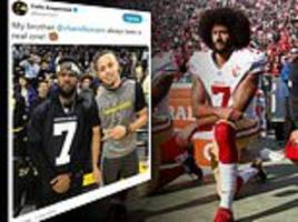 #imwithkap: celebrities voice support for colin kaepernick on twitter ahead of super bowl liii