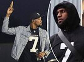 nba stars lebron james and kevin durant wear no 7 jerseys in support of colin kaepernick
