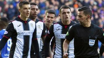rangers 4-0 st mirren: four penalties in one game. was the referee correct?