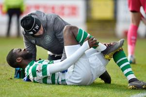 brendan rodgers provides celtic injury update as odsonne edouard and james forrest limp off in st johnstone win