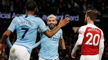aguero hat-trick gives man city victory over arsenal