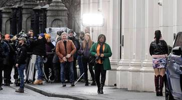 emmerdale stars spotted filming on belfast streets
