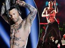maroon 5 frontman adam levine called out for  'dad dancing' and flashing his nipples at super bowl