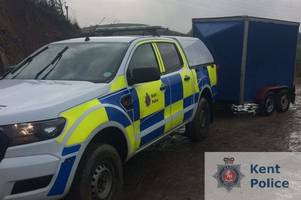 two teenagers have been arrested after a spate of caravan thefts in folkestone