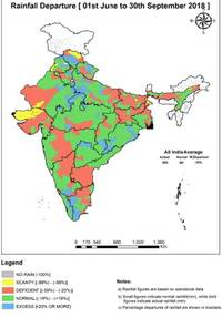 rainfall deficit likely to cause surge in prices for arhar – study by weather risk management services