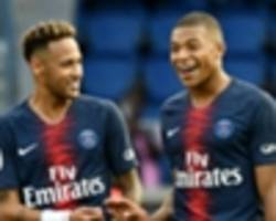 'i don't want kylian to play like neymar' - mbappe won't be asked to fill in for psg team-mate