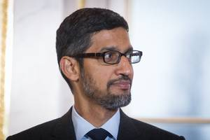 google ceo sundar pichai says the company isn't backing down from the challenge that 'fortnite' poses to the android app store business (goog, googl)