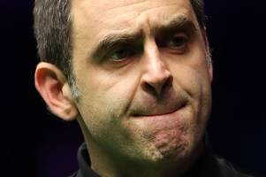ronnie o'sullivan has an 'off day' at cheltenham racecourse as he crashes out on day one of the world grand prix
