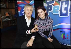 sir paul mccartney awarded gold blue peter badge
