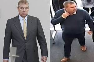 prince andrew lookalike wanted by police for stealing pushchair from mothercare