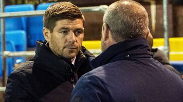 'he's trying to get one of my players banned' - gerrard disappointed by clarke's comments