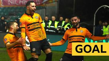 straight from the training ground - the brilliant strike that clinched victory for newport
