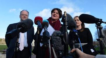 dup pressed pm on getting brexit deal - sinn fein says may came to belfast with 'no plan, no credibility and no honour'