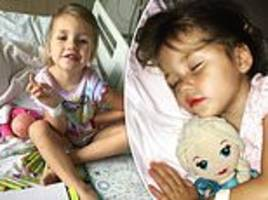 three-year-old girl's chickenpox caused her to have a stroke