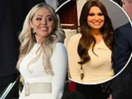 tiffany trump and kimberly guilfoyle wear white to state of the union