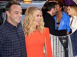 ant mcpartlin and amanda holden pose together at bgt auditions a year after backstage row