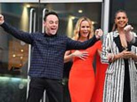 ant mcpartlin cheers as he arrives at the britain's got talent manchester auditions