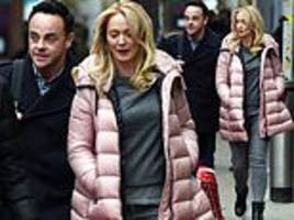 ant mcpartlin cosies up to girlfriend anne-marie corbett as they head to bgt auditions in manchester